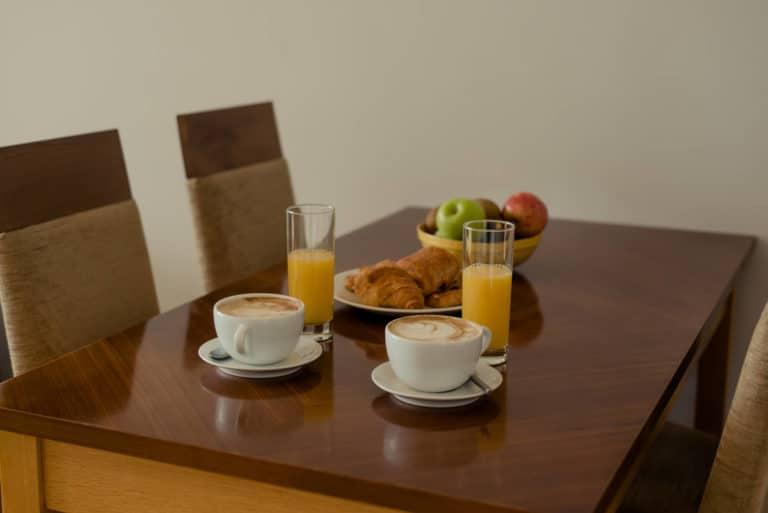 PREMIER SUITES Dublin Sandyford breakfast served on table